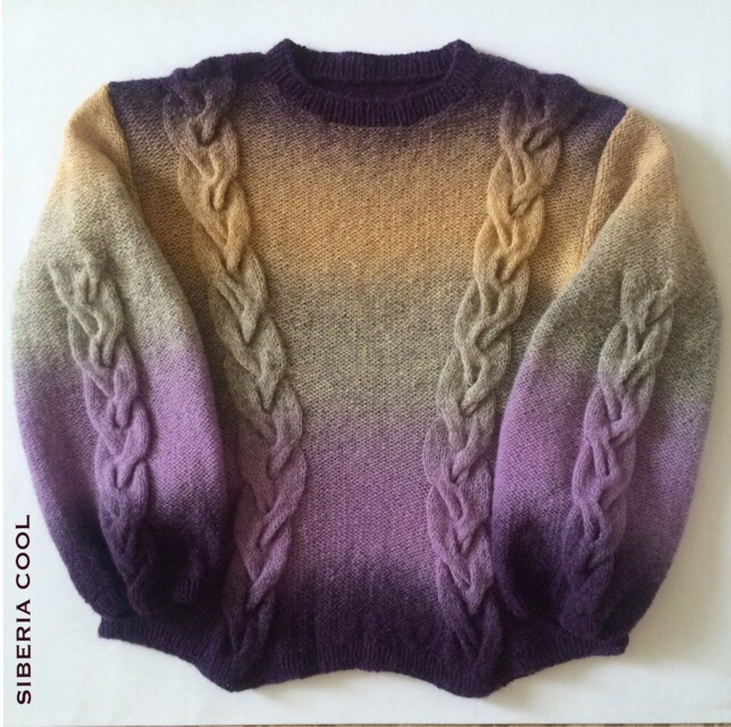 Jumper women's Lavender sunset, County, gradient, Ombre, hair, Jumpers, Voronezh,  Фото №1