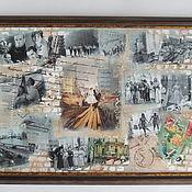 """Картины и панно ручной работы. Ярмарка Мастеров - ручная работа Коллаж-панно """"Оттепель"""". Handmade."""
