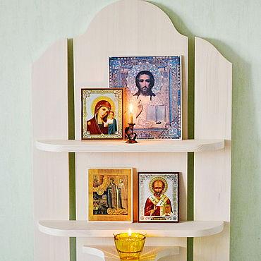 Мебель ручной работы. Ярмарка Мастеров - ручная работа Полка под иконы Греция. Handmade.
