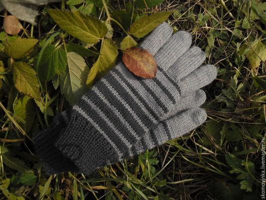 перчатки шерстяные вязаные
