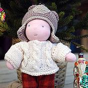 Вальдорфские куклы и звери ручной работы. Ярмарка Мастеров - ручная работа Кукла-мальчик в новогоднем костюме Медведя. Handmade.
