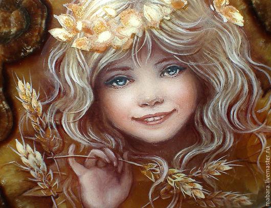 """Кулоны, подвески ручной работы. Ярмарка Мастеров - ручная работа. Купить Кулон-колье """"Девочка Осень"""". Handmade. Коричневый, осень"""