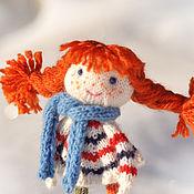 Куклы и игрушки ручной работы. Ярмарка Мастеров - ручная работа Кукла. Кукла вязаная. Пеппи Длинный чулок. Кукла игровая.. Handmade.