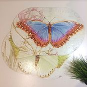 """Для дома и интерьера ручной работы. Ярмарка Мастеров - ручная работа Подставка для тарелки """"Бабочки"""". Handmade."""
