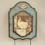 """Для дома и интерьера ручной работы. Ярмарка Мастеров - ручная работа Вешалка кухонная """"Co-Co-Country"""", ретро-вешалка, ключница. Handmade."""