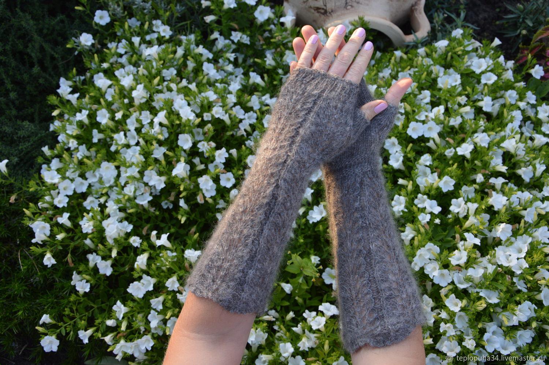 Fingerless gloves womens extra long down, Mitts, Urjupinsk,  Фото №1