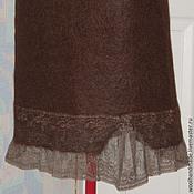 Одежда ручной работы. Ярмарка Мастеров - ручная работа Юбка из шерсти Черный шоколад. Handmade.