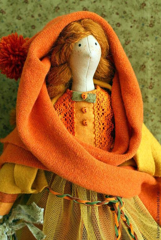 Куклы Тильды ручной работы. Ярмарка Мастеров - ручная работа. Купить Физалис.Девочка - осень. Handmade. Тильда, рыжая девочка