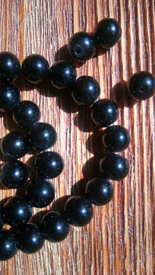 Для украшений ручной работы. Ярмарка Мастеров - ручная работа. Купить Агат бусины Черный гладкий шар 10 мм. Handmade.