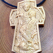 Украшения handmade. Livemaster - original item Cross Archangel Michael of Hornbeam. Handmade.