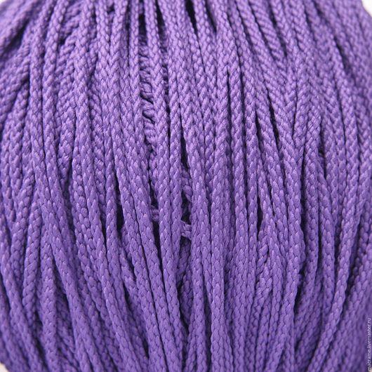 Для украшений ручной работы. Ярмарка Мастеров - ручная работа. Купить Шнур плетеный полиэфирный 3,5 мм сиреневый. Handmade.