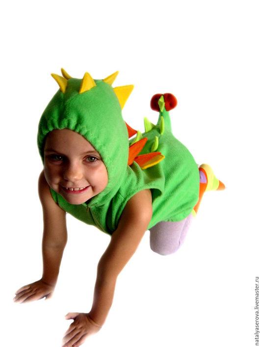 """Детские карнавальные костюмы ручной работы. Ярмарка Мастеров - ручная работа. Купить """"Динозаврик"""" костюм. Handmade. Разноцветный, новогодний костюм"""