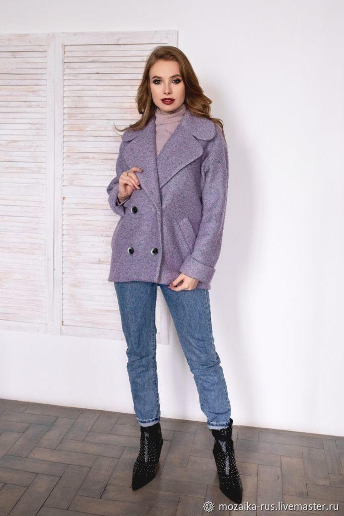 Coat-jacket woolen shortened Lavender from the Italian coat, Coats, Novosibirsk,  Фото №1