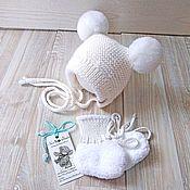 Работы для детей, manualidades. Livemaster - hecho a mano El gorro de punto para recién nacido. Handmade.
