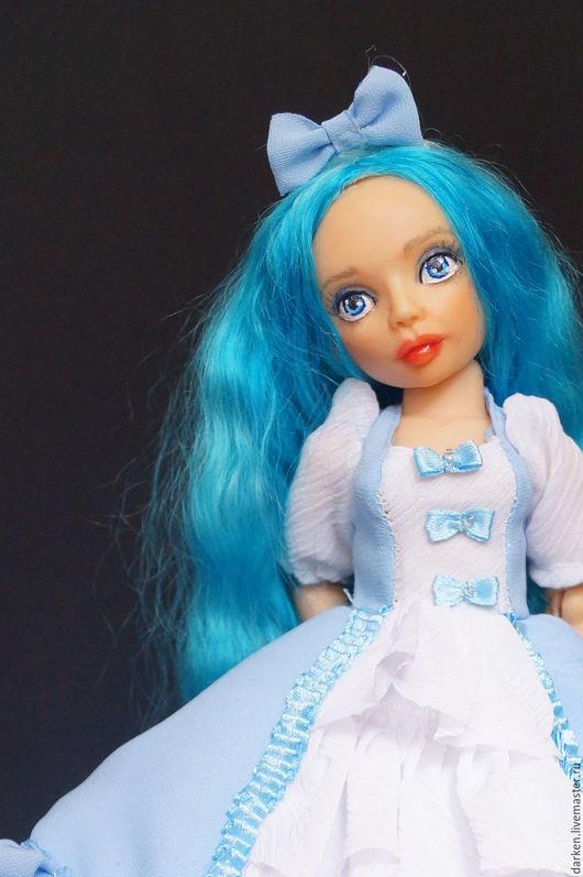 Коллекционные куклы ручной работы. Ярмарка Мастеров - ручная работа. Купить Мальвина. Шарнирная кукла.. Handmade. Голубой, авторская кукла