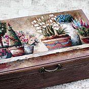 Для дома и интерьера handmade. Livemaster - original item Box my favorite garden country provence array. Handmade.