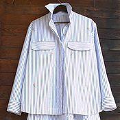 Рубашки ручной работы. Ярмарка Мастеров - ручная работа Рубашка в полоску. Handmade.