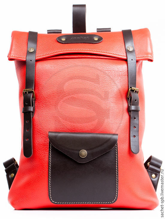 Leather Vogue backpack red, Backpacks, St. Petersburg,  Фото №1
