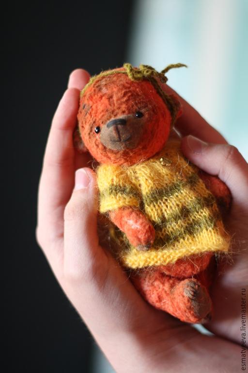 Мишки Тедди ручной работы. Ярмарка Мастеров - ручная работа. Купить Оливка. Handmade. Оранжевый, опилки