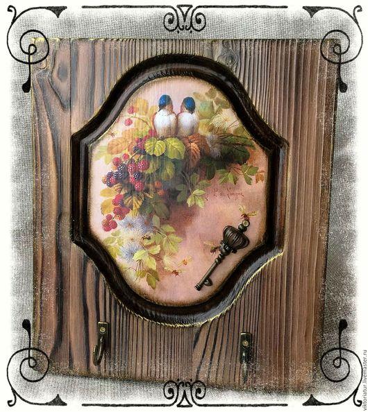 """Прихожая ручной работы. Ярмарка Мастеров - ручная работа. Купить Ключница """" Уютный дом """". Handmade. Комбинированный"""