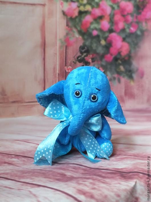 Игрушки животные, ручной работы. Ярмарка Мастеров - ручная работа. Купить слоник. Handmade. Голубой, слоник в подарок, для дома и интерьера