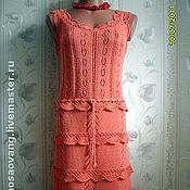 Одежда ручной работы. Ярмарка Мастеров - ручная работа вязаное платье. Handmade.