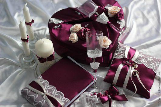 Свадебные аксессуары ручной работы. Ярмарка Мастеров - ручная работа. Купить Этюд в лиловых тонах. Handmade. Лиловый, свечи для очага