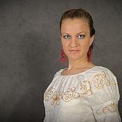 Одежда ручной работы. Ярмарка Мастеров - ручная работа Блузка с лилиями. Handmade.