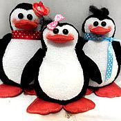 Куклы и игрушки ручной работы. Ярмарка Мастеров - ручная работа пингвины. Handmade.
