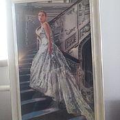 Картины и панно ручной работы. Ярмарка Мастеров - ручная работа девушка на лестнице. Handmade.