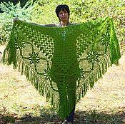 Аксессуары handmade. Livemaster - original item Shawl Regina 240x170x170 crocheted (excluding brushes). Handmade.