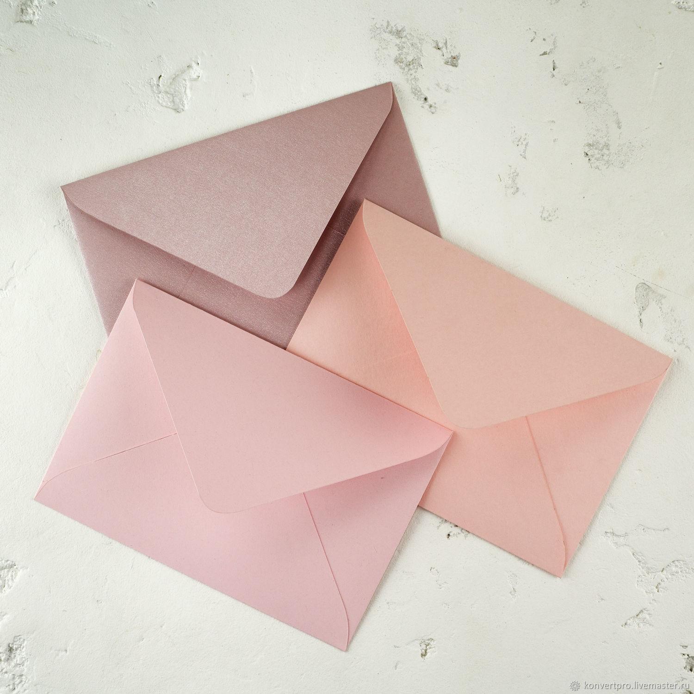 Конверт 11х16 (с6) розовый, Бумага, Набережные Челны,  Фото №1