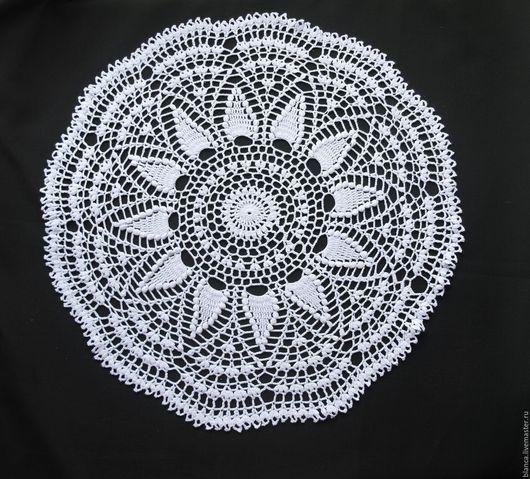 Текстиль, ковры ручной работы. Ярмарка Мастеров - ручная работа. Купить Ажурная салфетка крючком. Handmade. Белый, салфетка