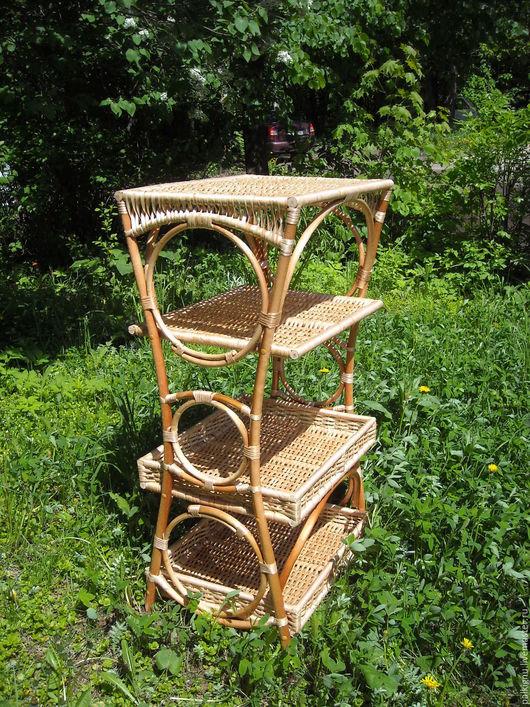 Мебель ручной работы. Ярмарка Мастеров - ручная работа. Купить Этажерка плетеная. Handmade. Бежевый, для дома и интерьера, для кошек