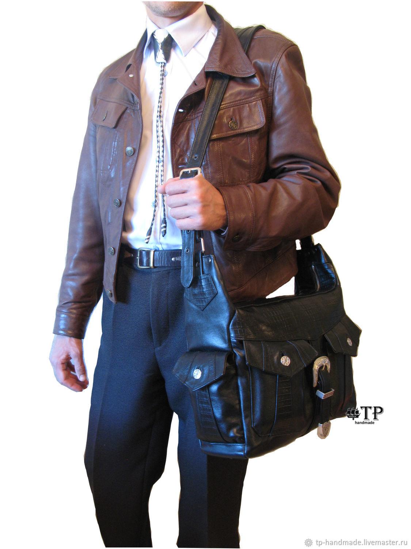 "Men's western leather bag ""Night train to Memphis», Men\'s bag, St. Petersburg,  Фото №1"