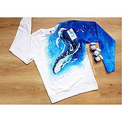 Одежда handmade. Livemaster - original item Sweatshirts: Hand painted kit. Handmade.