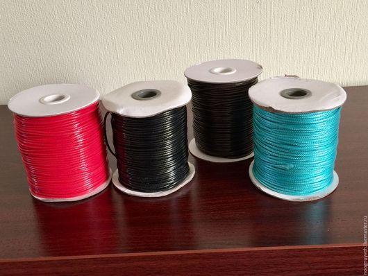 Для украшений ручной работы. Ярмарка Мастеров - ручная работа. Купить Шнур вощеный полиэстерный 2 мм, 4 цвета. Handmade.