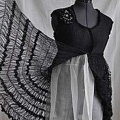 Валяное платье-жилет Черный лебедь