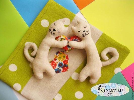 Ароматизированные куклы ручной работы. Ярмарка Мастеров - ручная работа. Купить Влюбленные котики. Handmade. Котики, льняные коты, лён