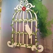 Для дома и интерьера ручной работы. Ярмарка Мастеров - ручная работа Белая интерьерная ключница с птичкой «КОЛИБРИ»)). Handmade.