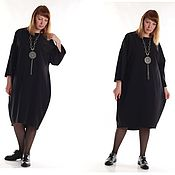 Одежда handmade. Livemaster - original item Dress black oversiz. Handmade.