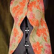 Валяный жилет из шерсти Модный принт бежевого цвета  размера S M