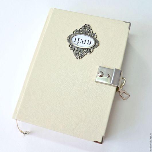 Блокноты ручной работы. Ярмарка Мастеров - ручная работа. Купить Большой личный дневник. Handmade. Белый, большой блокнот
