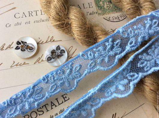"""Шитье ручной работы. Ярмарка Мастеров - ручная работа. Купить Кружево """"Голубое"""". Handmade. Кружево, Декор, шить, кружево для одежды"""