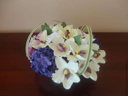 Цветы ручной работы. Ярмарка Мастеров - ручная работа. Купить Букет орхидей. Handmade. Цветы, цветы из полимерной глины