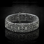 Украшения handmade. Livemaster - original item Chain bracelet: Cross bracelet. Handmade.