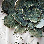 """Посуда ручной работы. Ярмарка Мастеров - ручная работа Набор керамических тарелок """"Каштан"""". Handmade."""
