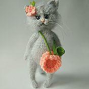 Мягкие игрушки ручной работы. Ярмарка Мастеров - ручная работа Кошка - цветочек.. Handmade.