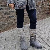 """Обувь ручной работы. Ярмарка Мастеров - ручная работа Сапоги валяные """"Изморозь"""". Handmade."""