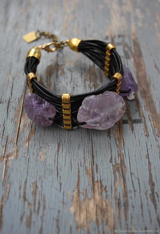 Bracelet with amethyst, Bead bracelet, Almaty,  Фото №1